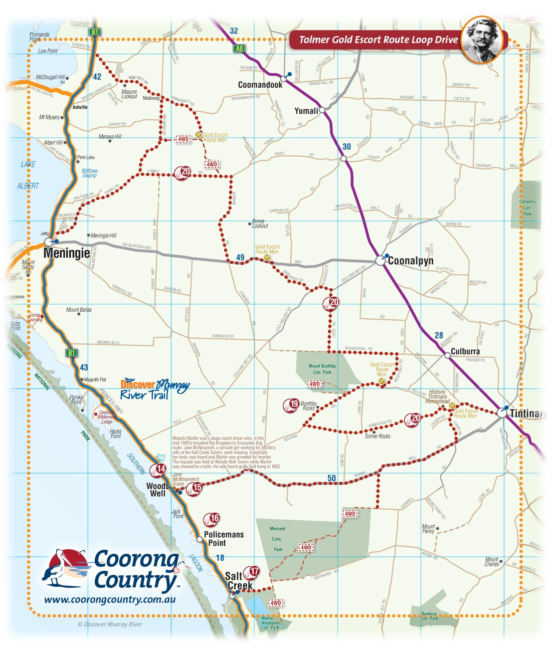 Coorong Country and Meningie Maps, South Australia