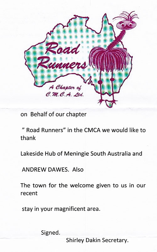 Roadrunners-CMCA-RV-Coorong