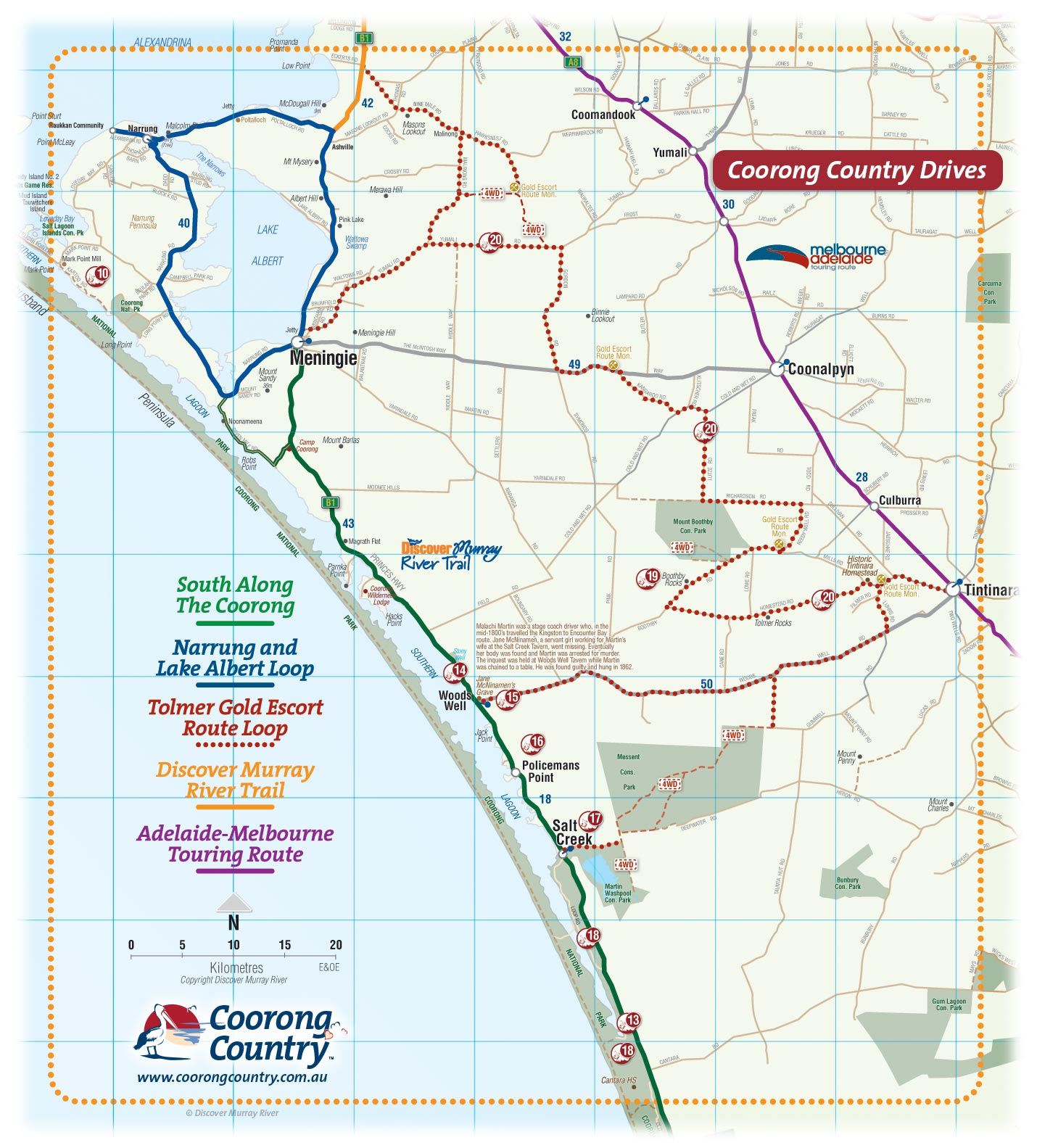 4wd Map Of Australia.Coorong Country And Meningie Maps South Australia